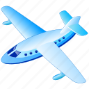 aerial, air, airline, airplane, delivery, flight, fly, flying, front, jet, passengers, plane, public, transportation, travel, view icon