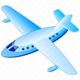 aerial, air, airline, airplane, delivery, flight, fly, flying, front, jet, passengers, plane, public, transportation, travel icon