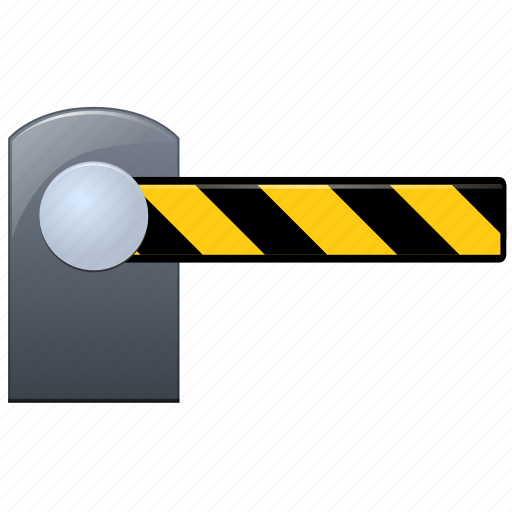 barrier, border, close, closed, customs, exit, outside, problem icon