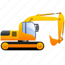 build, build machinery, building, development, digg, digger, equipment, excavator, heavy, heavy machinery, heavy machines, machine, power, power shovel, shovel, transportation, vehicle icon