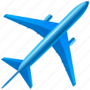 aero, aeroplane, aeroport, aircraft, airliner, airlines, airplane, airport, avia, avion, delivery, flight, flights, holiday, liner, plane, transport, transportation, travel, trip, vacation, vehicle icon