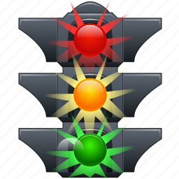 green, light, lights, red, road, traffic, yellow icon