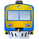 commute, engine, locomotive, rail, traffic, train, transport, transportation, travel, trolley icon