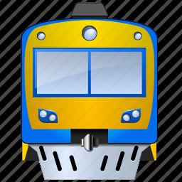 commute, engine, locomotive, rail, traffic, train, transport, transportation, travel, trolley icon