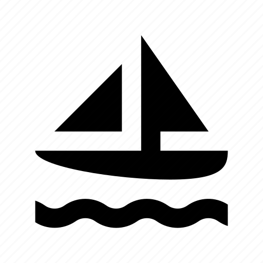 boat, sailboat, sailing vessel, transport, travel icon