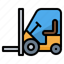 forklift, transport, transportation, vehicle icon