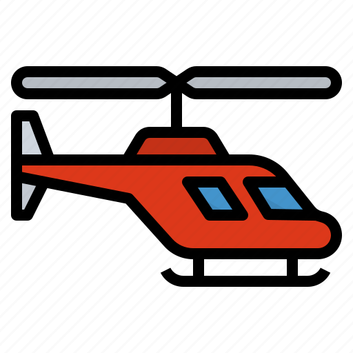 helicopter, rotorcraft, transportation, travel icon