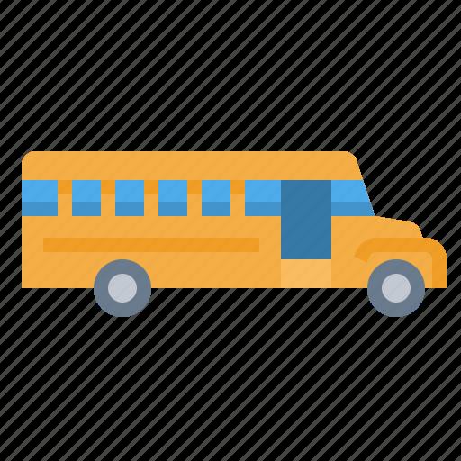 bus, public, school, transport icon