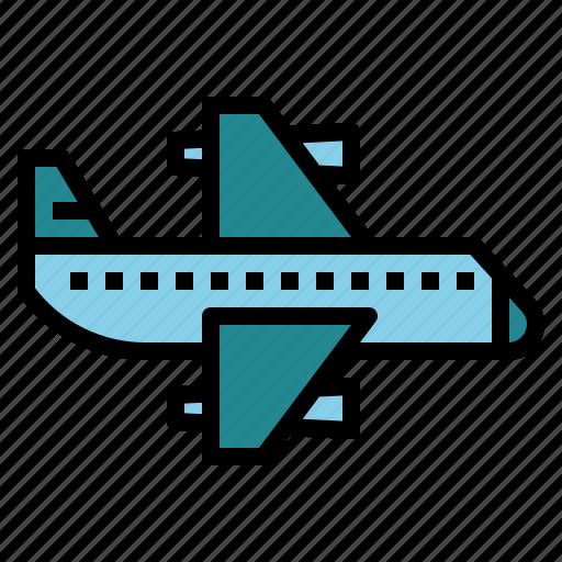 aeroplane, airplane, flight, plane icon