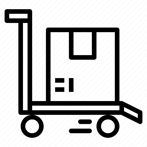 carts, packing, trolley icon