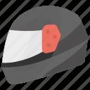 bike accessory, biker helmet, bikers safety, racer helmet, skull protection icon