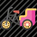 cycle cart, cycle rickshaw, passenger transportation, rickshaw, transportation vehicle icon