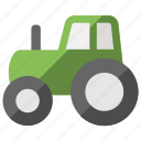 agricultural machinery, farm tractor, farmer truck, farming, tractor icon