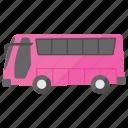 omnibus, single deck bus, tour bus, transport, traveling icon