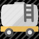 oil tanker, petrol vehicle, railroad tanker, tank car, tank wagon icon