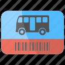 bus journey, bus pass, bus ticket, road journey, travel via bus icon