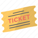 coupon, ticket, token, travelling pass, voucher icon