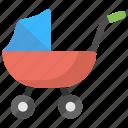 baby carrier, baby cart, baby port, baby pram, stroller icon