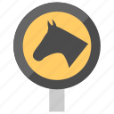 animal hazard, horse traffic symbol, speed control, traffic control, traffic sign icon