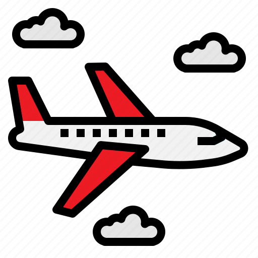 air, aircraft, airliner, airplane, transportation, travel icon