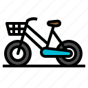 bicycle, bike, city, transportation icon