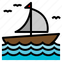 boat, sail, sailing, transportation icon