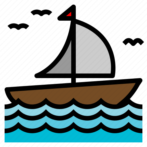 Boat, sail, sailing, transportation icon - Download on Iconfinder