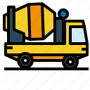 cement, mixer, transportation, truck icon
