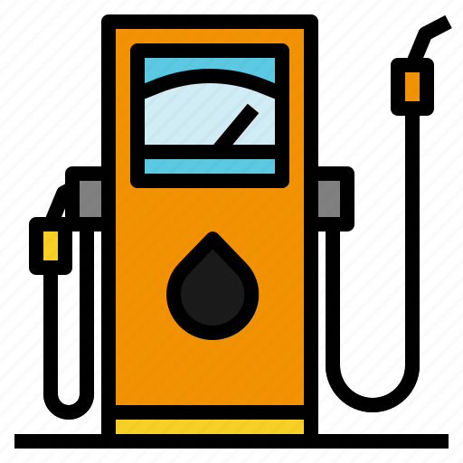 Diesel  Fuel  Gas  Petrol  Pump  Station  Transportation Icon