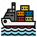 boat, cargo, navigation, ship, shipping, transport icon