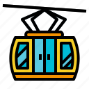 transportation, cable, car, resort, transport, ski, cabin icon