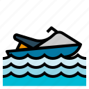 watercraft, jet, scooter, sea, vehicle, ski, transport icon
