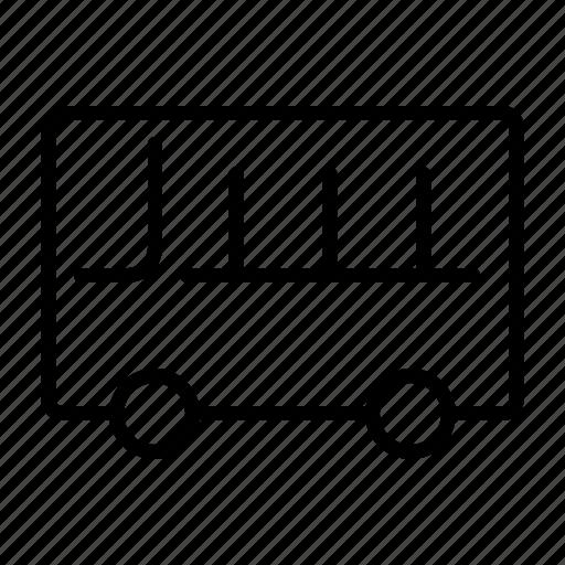 bus, school bus, transportation icon