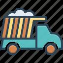 cargo, construction, crane, dumper, excavation, garbage, transportation icon