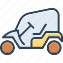 cart, electric, golf, golf cart, opened, transportation, vehicle