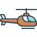 aircraft, chopper, helicopter, propeller, rescue, transportation icon