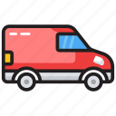 delivery services, delivery truck, delivery van, delivery vehicle, logistics icon