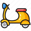 bike, personal bike, scooter, sports scooter, transport icon