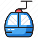 aircraft, cable transport, chair lift, electronic chairlift, gondola, ski lift icon