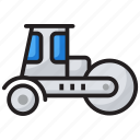 bulldozer, construction bulldozer, construction vehicle, earth mover, industrial machine, industrial machinery icon