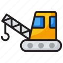 construction crane, excavator, industrial, industrial crane, lifting, machine, renovation icon