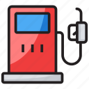 fuel dispenser, fuel station, petrol bowser, petrol kiosk, petrol pump icon