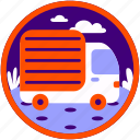 delivery, delivery car, technology, transport, transportation, travel, trip icon