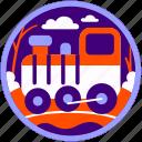 locomotive, technology, train, transport, transportation, travel, trip icon