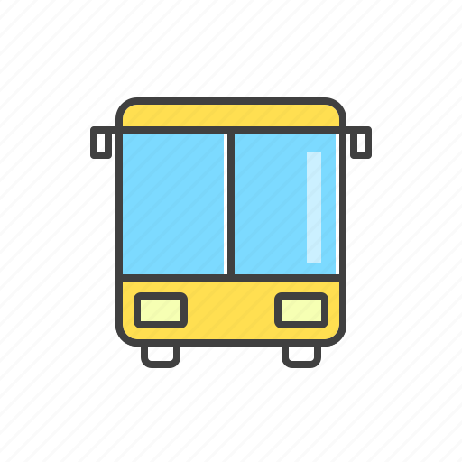 auto, bus, public, transport, vehicle icon