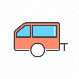 automobile, car, trailer, vehicle icon