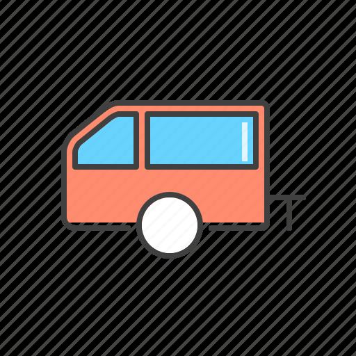 automobile, car, trailer, vehicle icon
