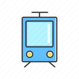 public, rail, railway, train, transport icon