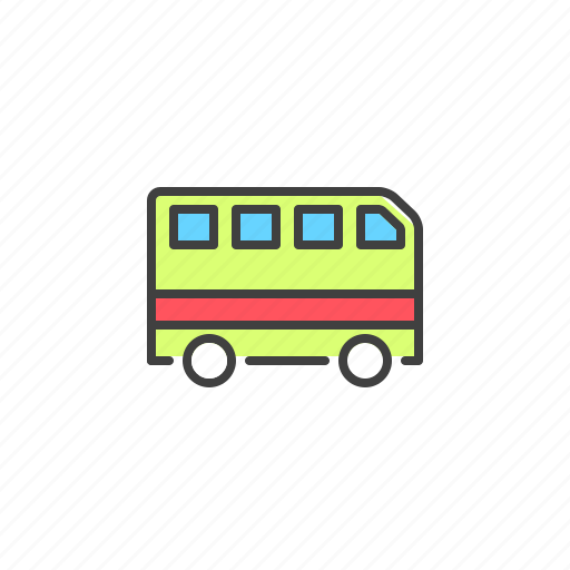 auto, bus, transport, van, vehicle icon