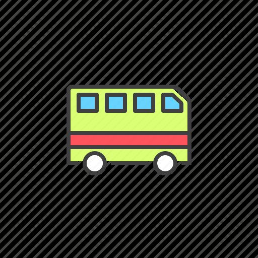 auto, bus, transport, van, vehicle icon